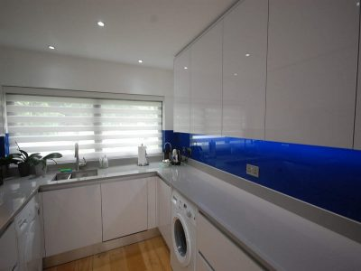 Kitchen Installation Blackheath - White Gloss & Blue